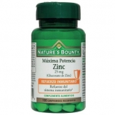 Zinc 25 mg massima potenza Nature's Bounty, 100 compresse
