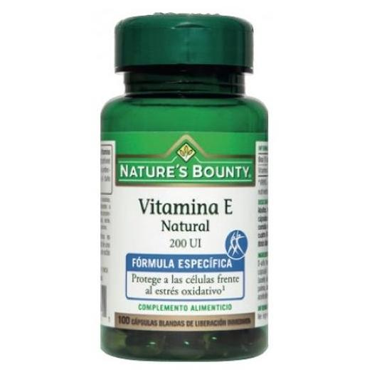 Vitamina E natural 200 UI Nature's Bounty, 100 capsule