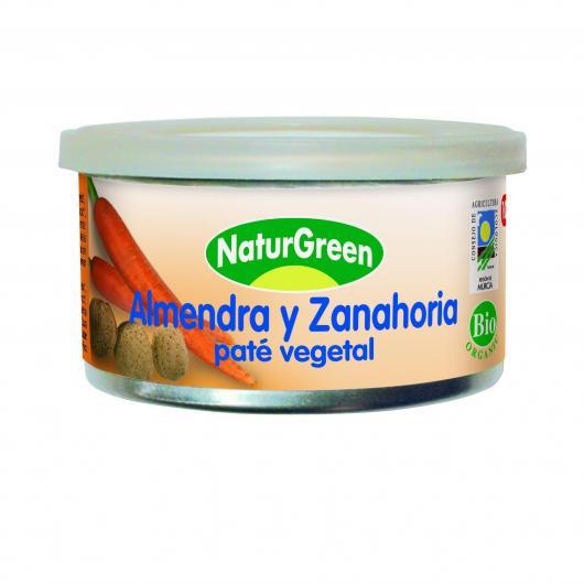 Paté Almendra y Zanahoria Naturgreen 125 g