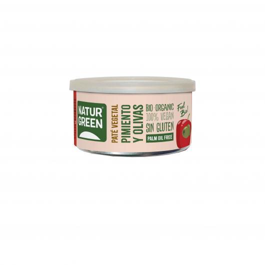 Pâté Végétal Poivron et Olives Naturgreen 125 g