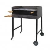 Barbecue con ruote, griglia in acciaio Inox e vassoio laterale Imex el Zorro
