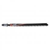 Wolfcraft 2384000 - 1 hoja de sierra de calar vástago en T / dientes en metal duro / plásticos, hormigón celular, planchas de placa de yeso / corte rápido y basto 105 mm