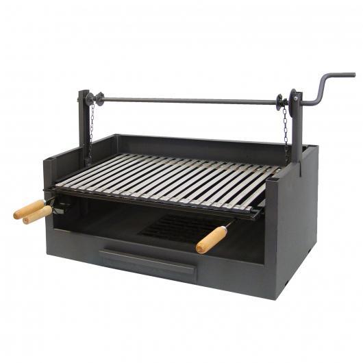 Cassetto-Barbecue a carbone con elevatore alla griglia Imex el Zorro