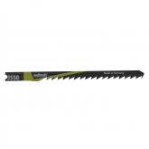 Wolfcraft 3550000 - 2 hojas de sierra de calar vástago en U / HCS / madera blanda, planchas de virutas, tableros de madera estratificada / corte curvado fino 75 mm