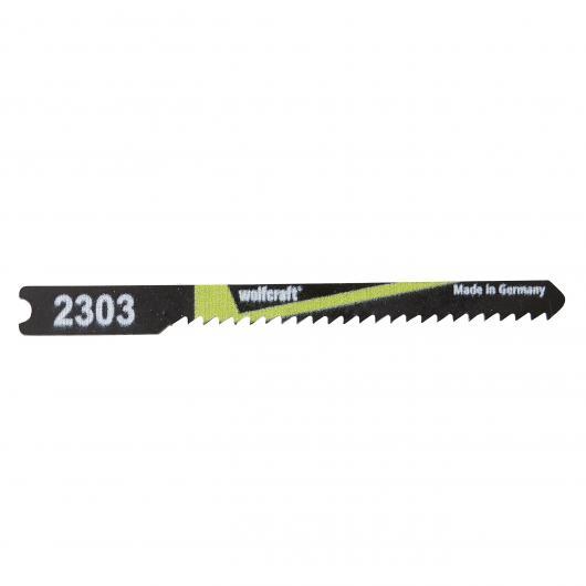 Wolfcraft 2303000 - 2 hojas de sierra de calar vástago en U / HCS / madera blanda, planchas de virutas, tableros de madera estratificada, 50 mm