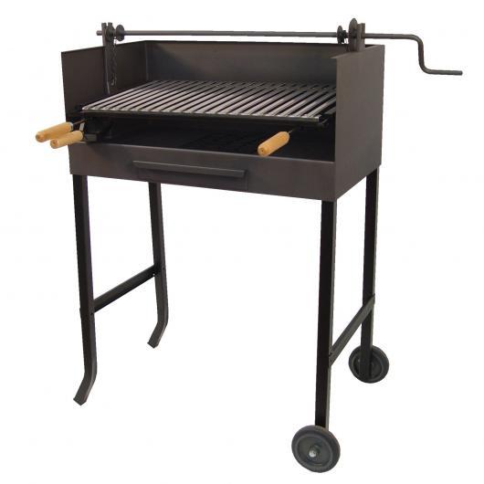 Barbecue con ruote e griglia in acciaio inox con elevatore Imex el Zorro