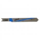 Wolfcraft 2308000 - 2 hojas de sierra de calar vástago en U / HSS / chapas de acero 1-3mm, metales no férreos / corte fino 52 mm
