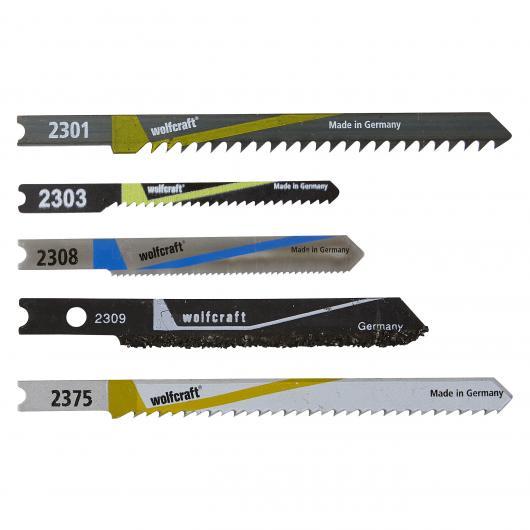 Wolfcraft 2687000 - 1 set di lame per seghetti alternativi per lavori interni