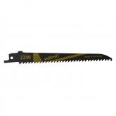 Wolfcraft 2290000 - 2 hojas de sierra de sable CV / madera, plástico / corte rápido y fino, corte curvado / aplicación con carrera pendular 130 mm