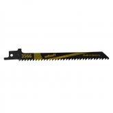 Wolfcraft 3566000 - 2 hojas de sierra de sable CV / tableros de virutas, plástico / corte fino y rápido, especialmente para corte curvado / aplicación con carrera pendular 130 mm