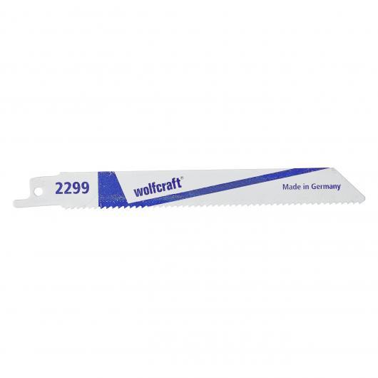 Wolfcraft 2299000 - 2 hojas de sierra de sable D6A / chapas de acero 3-8mm, metales no férreos / cortes bastos / aplicación con carrera pendular 130 mm