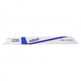 Wolfcraft 2293000 - 2 hojas de sierra de sable bimetal, hoja muy flexible/ chapas de acero 2-8mm, metales no férreos, aluminio / cortes enrasados finos 130 mm
