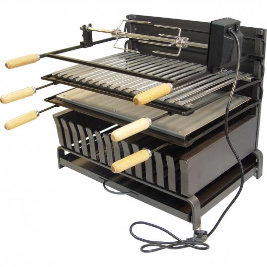 Cajón Barbacoa abierto kit pollo Imez el Zorro