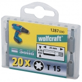 Wolfcraft 1288000 - 20 puntas Solid, Torx, en Cajas profesionales No. 20