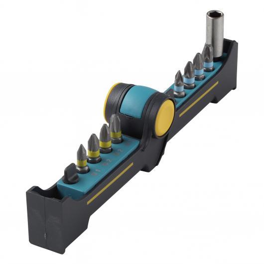 Wolfcraft 1369000 - 1 BitButler, Solid: con portapuntas magnético y 8 puntas
