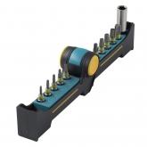 Wolfcraft 1372000 - 1 BitButler, Solid: con portapuntas magnético y 10 puntas