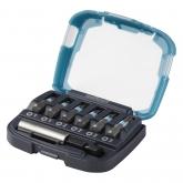 Wolfcraft 2977000 - 1 caja de puntas Solid 7 piezas, con portapuntas magnéticoy y 6 puntas Pozidriv PZ 1, 2, 3