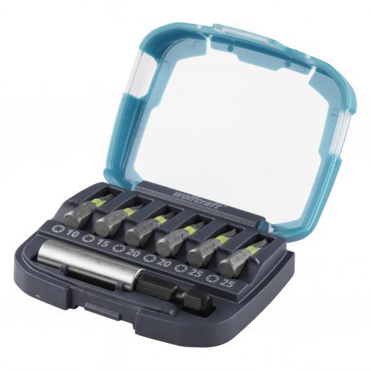 Wolfcraft 2978000 - 1 caja de puntas Solid 7 piezas, con portapuntas magnéticoy y 6 puntas Torx T 10, 15, 20, 25