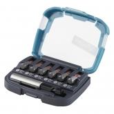 Wolfcraft 2980000 - 1 caja de puntas Solid 7 piezas, con portapuntas magnéticoy y 6 puntas ranura SL 0,6x4,5 / 0,8x5,5 / 1,0x5,5 / 1,0x5,5 / 1,2x6,5