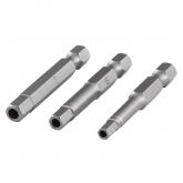 Wolfcraft 1264000 - 3 puntas de atornillador seguridad, 50 mm de longitud, 4,0 + 5,0 + 6,0 mm