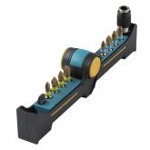 Wolfcraft 1365000 - 1 BitButler, Diamantados: con portapuntas magnético de cambio rápido y 8 puntas