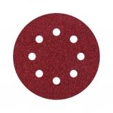 Wolfcraft 2269100 - 25 muelas de lija adhesivas, corindón grano 40, perforadas Ø 115 mm
