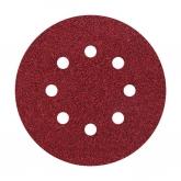 Wolfcraft 3180000 - 5 muelas de lija adhesivas, corindón grano 24, perforadas Ø 125 mm
