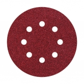 Wolfcraft 2253000 - 5 muelas de lija adhesivas, corindón grano 240, perforadas Ø 125 mm