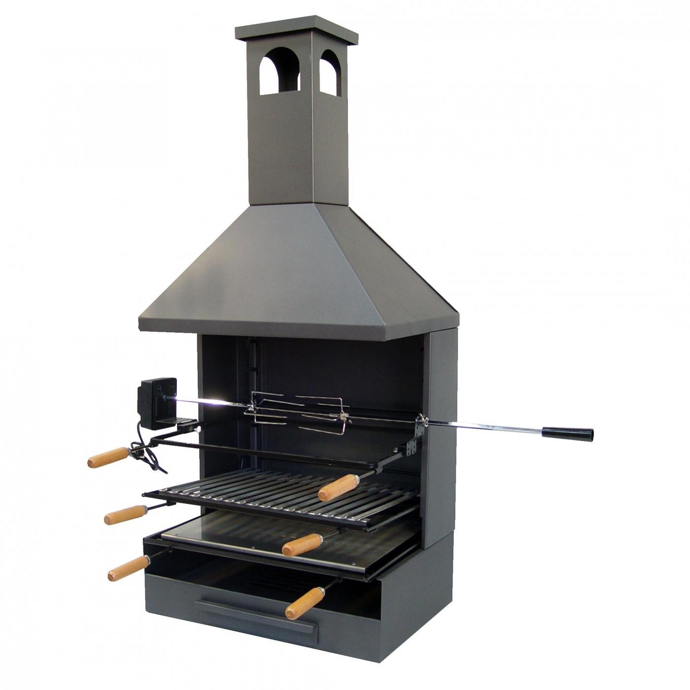 barbecue avec bac cendre et chemin e compl te par 325 99 sur planeta huerto. Black Bedroom Furniture Sets. Home Design Ideas
