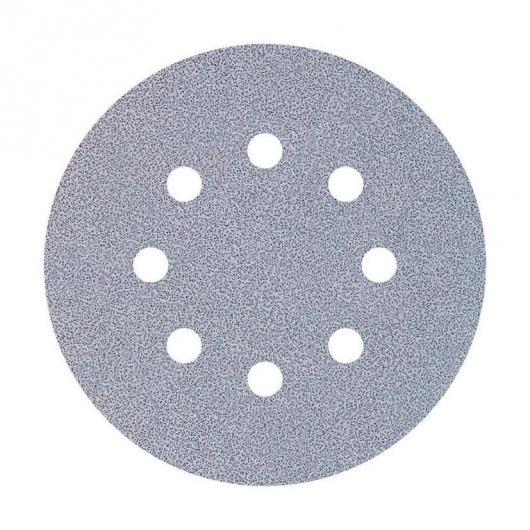 Wolfcraft 1149000 - 9 muelas de lija adhesivas, para pintura y laca/ barniz, Ø 125 mm