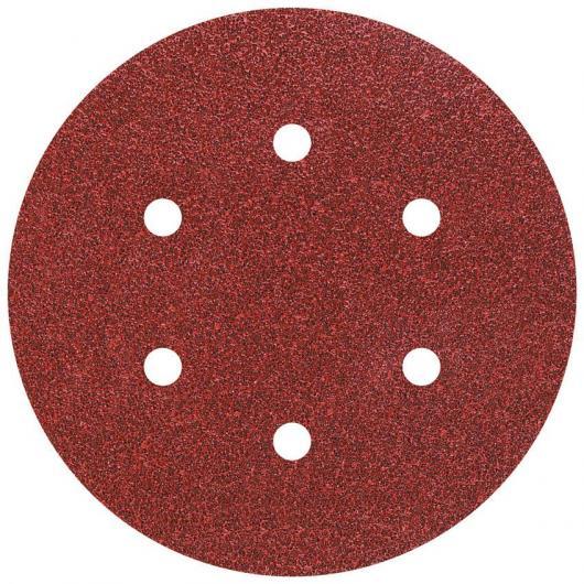 Wolfcraft 1838000 - 12 discos de lija auto-adhesivos, corindón grano 60,120,240, perforado Ø 150 mm