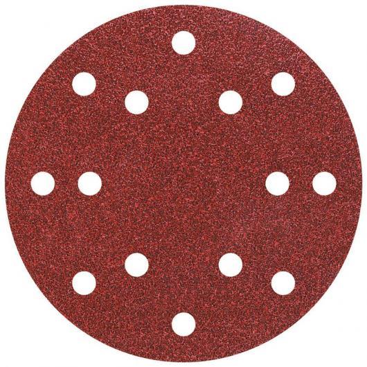 Wolfcraft 1841000 - 5 discos de lija auto-adhesivos, corindón grano 60, perforado Ø 150 mm
