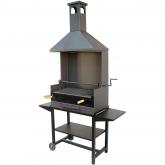 Barbecue con bistecchiera completa e vassoi in metallo Imex El Zorro