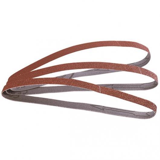 Wolfcraft 1869000 - 3 bandas abrasivas sobre tela, de cada grano 40,80,120 13 x 457 mm