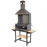 Barbecue con bistecchiera completa e vassoi di Legno Imex El Zorro