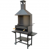 Barbecue completo con tre vassoi di legno Imex El Zorro