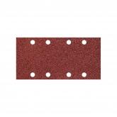 Wolfcraft 5801000 - 10 tiras abrasivas con adhesiva, corindón grano 180, perforadas 93 x 185 mm