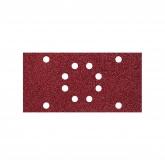 Wolfcraft 1833000 - 10 tiras abrasivas con adhesiva, corindón grano 40, 80, 120, perforadas 93 x 185 mm