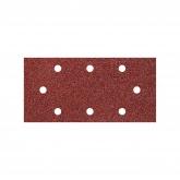 Wolfcraft 1992000 - 5 tiras abrasivas con adhesiva, corindón, grano 40, perforadas 93 x 190 mm