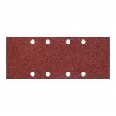 Wolfcraft 8408000 - 15 patines de lija de corindón, grano 40,80,120; perforadas 93 x 230 mm