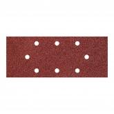 Wolfcraft 1972000 - 5 patines de lija de corindón, grano 80; perforadas 93 x 230 mm
