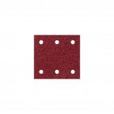 Wolfcraft 1761000 - 10 tiras abrasivas con adhesiva, corindón grano 60,120,240, perforadas 100 x 115 mm