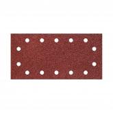 Wolfcraft 3185000 - 5 tiras abrasivas con adhesiva, corindón grano 120, perforadas 115 x 230 mm