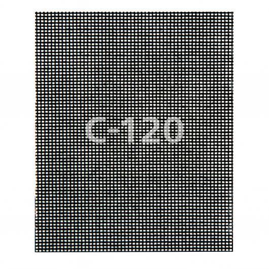 Wolfcraft 8466000 - 5 Tejidos de rejilla adherentes carburo de silicio grano 80,120,220 115 x 142 mm