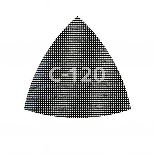 Wolfcraft 8469000 - 5 Tejidos de rejilla adherentes carburo de silicio grano 80,120,220 95 mm