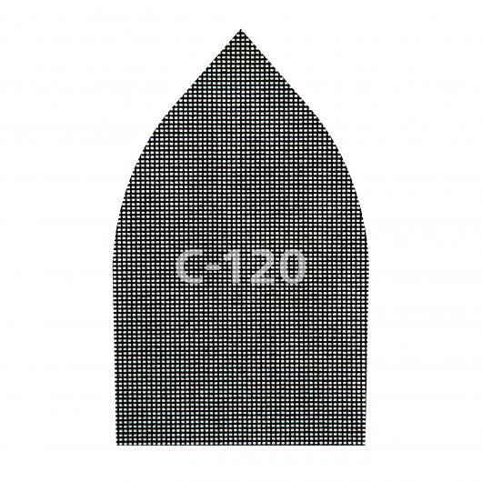 Wolfcraft 8465000 - 5 Tejidos de rejilla adherentes carburo de silicio grano 80,120,220 107 x 175 mm