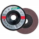 Wolfcraft 8425000 - 1 disco abrasivo de láminas, corindón grano 40, granel Ø 125 x 22 mm