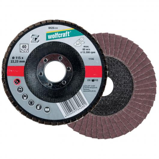 Wolfcraft 8426000 - 1 disco abrasivo a lamelle