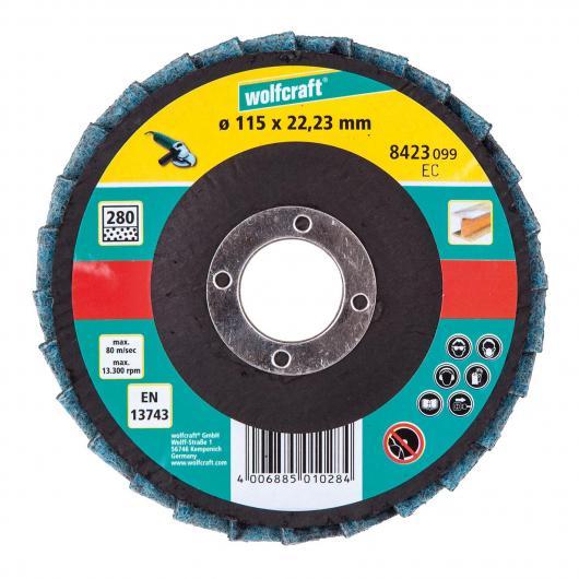 Wolfcraft 8423099 - 1 dischi abrasivi a lamelle con panno