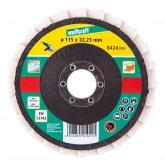 Wolfcraft 8424099 - 1 disco abrasivo a láminas, Ø 115 x 22 mm